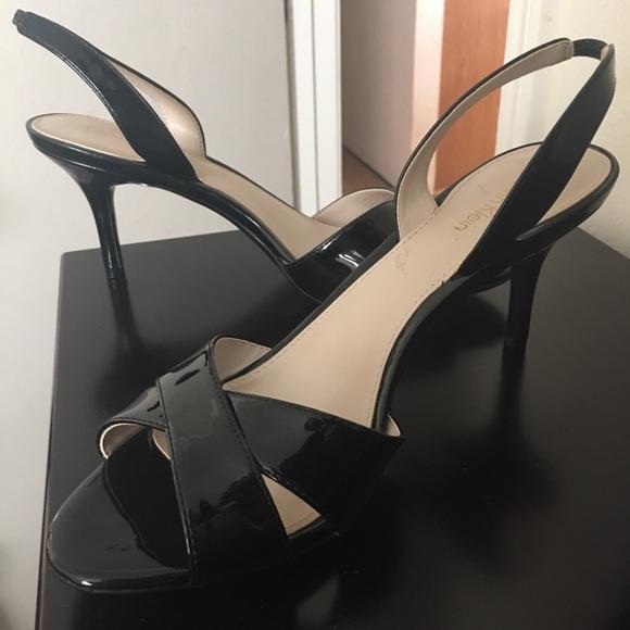 39e6431087e Calvin Klein Shoes - NWOT CALVIN KLEIN LUCETTE BLACK PATENT SLINGBACKS
